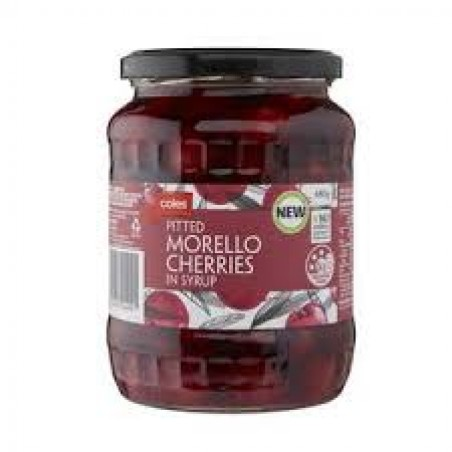 Coles Pitted Morello Cherries In Syrup