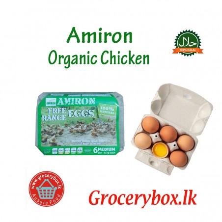 Amiron Organic Egg Omega 3  6 pack  (Each 55/=) LIMIT 3 PACKS